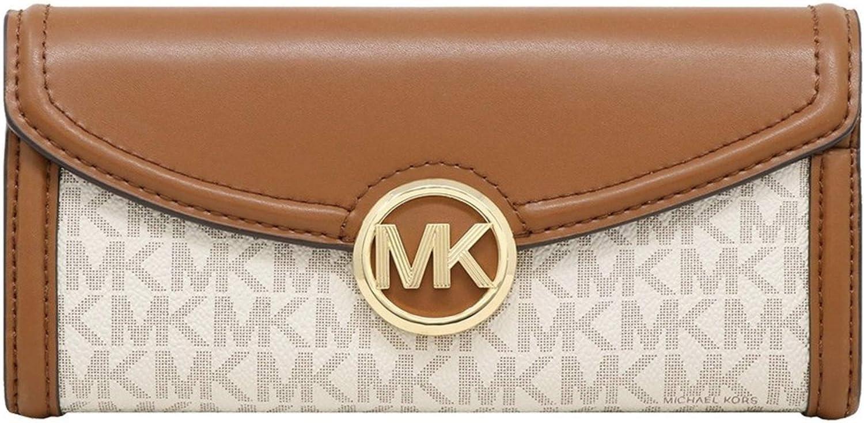 Max 71% OFF Michael Kors Mail order Fulton Large Flap Continental 2019 Vanil - Wallet