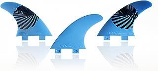 E8 FIN SYSTEM QUILLA Surf FCS Compatible Tri-Set A2 Composite 50% Fibra DE Vidrio. Sistema Fusion Equivalente AM2. Talla M