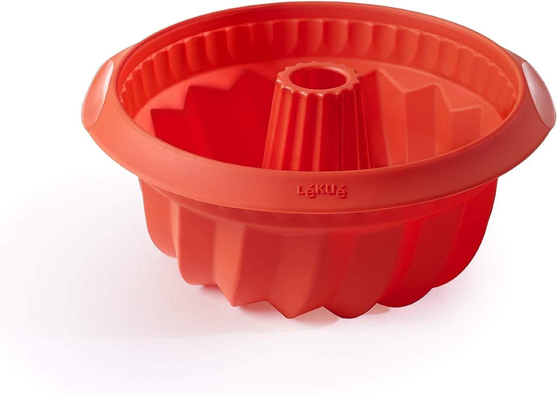 Lekue Baking Deep Bundt Savarin Cake Baking Mold 8 6 Red