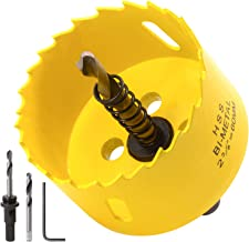 Acekit 2 3/8 inch Hole Saw With 3/8 Arbor HSS Bi-Metal Hole Saw Blade And Variable Teeth Pitch For Wood,Plastic Board,Pipe,Plywood,And Soft Metal Sheet (60mm)