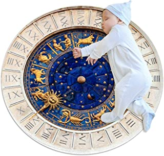 Wall Clock Small Shag Soft Round Area Rugs Outdoor Circle Rugs for Boy and Girl Castle Playmat for Kids Bedroom Baby Room Best Gift for Your Children 3feet 4inch