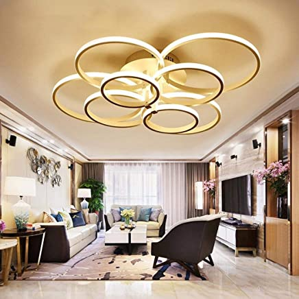 Merveilleux WEITING Super Mince Circle Rings Lampe à Lustre Plafonnier Moderne Lampe De  Salon Salon Moderne
