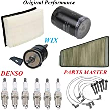 8USAUTO Tune Up Kit Air Cabin Oil Fuel Filters Wire Spark Plug Fit FORD TAURUS V6 3.0L DOHC 2001