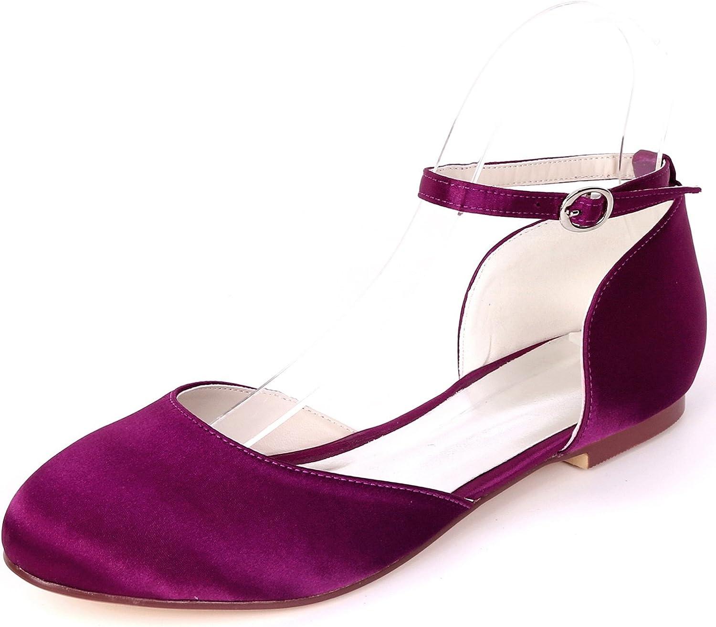 L@YC Frauen Hochzeit Schuhe Schnalle Mid Heels Satin Handmade 0,6 cm Ferse Abend Herbst Mode