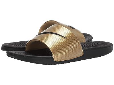 Nike Kawa Slide (Black/Black/Metallic Gold) Men