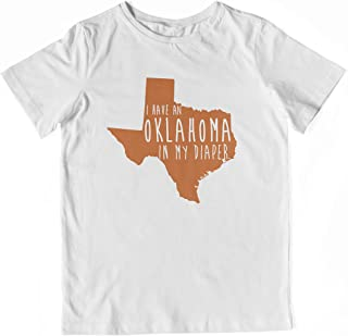 In My Diaper I Have an Oklahoma UT Texas Fans Toddler Shirt