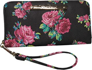 Betsey Johnson Women's Z/A Floral Wristlet/Wallet Black/Floral