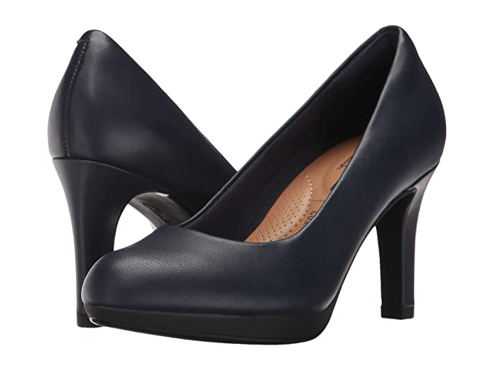 Clarks  Adriel Viola (Navy Leather) High Heels