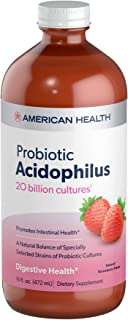 American Health Probiotic Acidophilus, Natural Strawberry Flavor - Promotes Intestinal Health, Encourages Nutrient Absorpt...