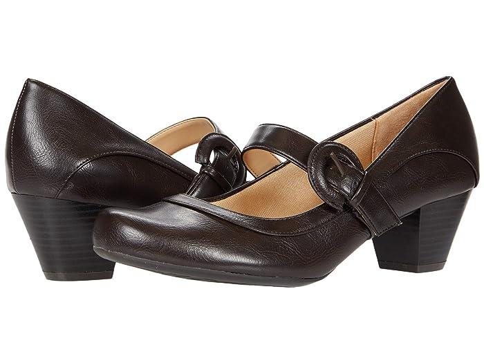 60s Shoes, Go Go Boots LifeStride Rozz Dark Brown Womens Shoes $36.00 AT vintagedancer.com