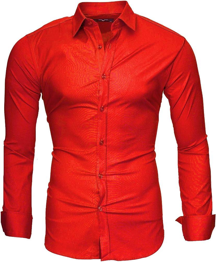 Kayhan, originale camicia per uomo, maniche lunghe, 97% cotone, 3% elastan a-twoface-0000135d A-TwoFace-0000135E