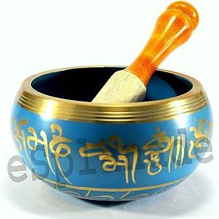 eSplanade - 4 inches - Singing Bowl Tibetan Buddhist Prayer Instrument With Striker Stick   OM Bell   OM Bowl   Meditation...