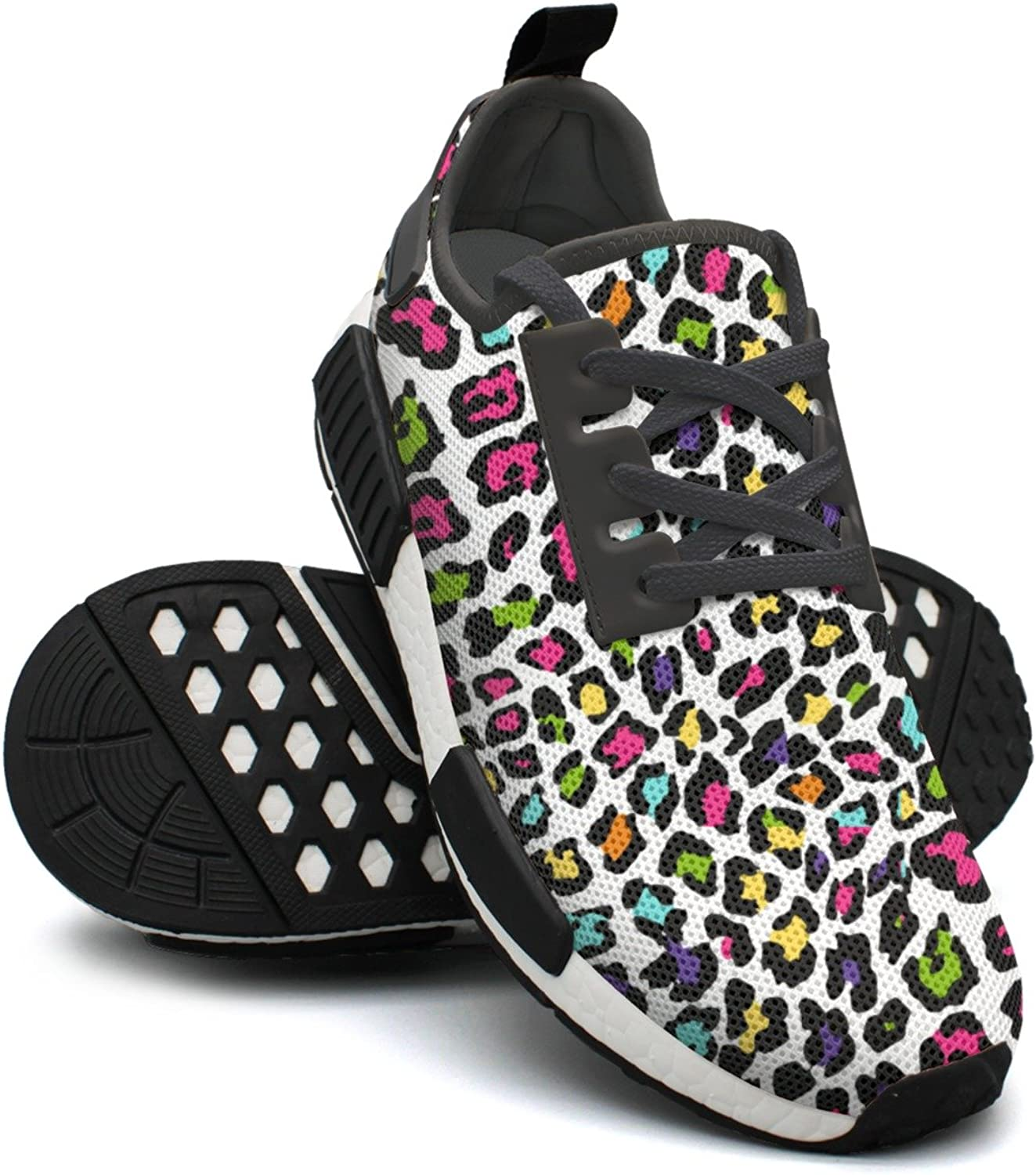 colorful Large Leopard Print Sport Women Minimalist Running shoes NMD
