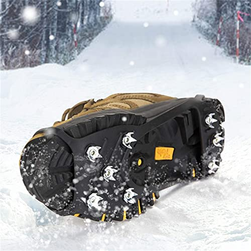 wholesale OPTIMISTIC Ice Cleats Traction popular for Hiking Boots Shoe Ice and outlet online sale Snow Grips Crampons Anti-Slip 8 Steel Spikes for Men and Women Hiking Walking Fishing Boots Covers, US 5.5-7.5 online sale