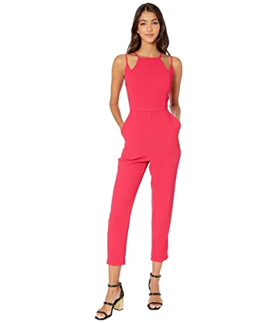 BCBGeneration Abstract Neckline Jumpsuit GEF9235456 (Hot Pink) Women
