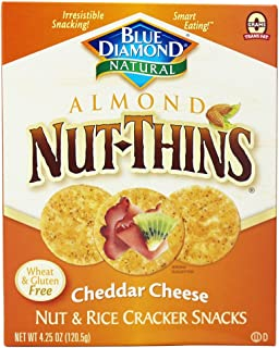 Blue Diamond Growers - Almond Nut-Thins Nut & Rice Cracker Snacks Cheddar Cheese - 4.25 oz (pack of 2)