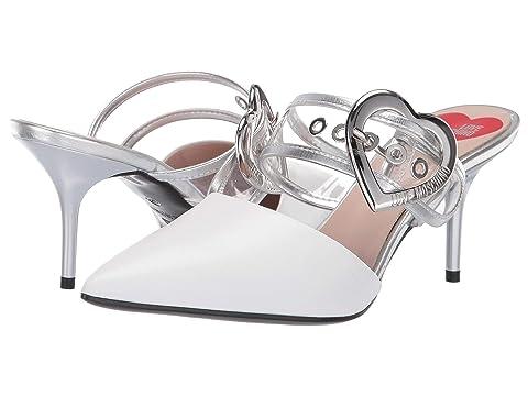 LOVE Moschino Mule Heel with Heart Buckle