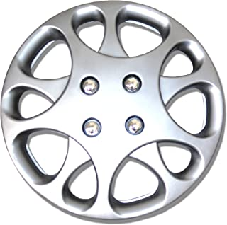 TuningPros WSC-821S14 Hubcaps Wheel Skin Cover 14-Inches Silver Set of 4