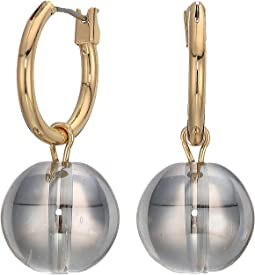 Hoop Earrings with Ball Drop