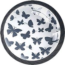 Ladeknoppen Ronde Kast Handgrepen Pull voor Home Office Keuken Dressoir Garderobe Decoreren, Vlinders Perfect Behang