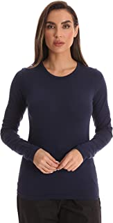 Just Love Women's Underscrub Long Sleeve T-Shirt Plain Undershirt Tee
