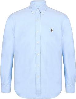 43466cb9e3c3c Ralph Lauren - Chemise Casual - Manches Longues - Homme - Bleu - Medium
