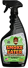 Smoke Eater - Breaks Down Smoke Odor at The Molecular Level - Eliminates Cigarette, Cigar or Pot Smoke On Clothes, in Cars, Boats, Homes, and Office - 22 oz - Also Works in Washers (Tea Tree Oil)
