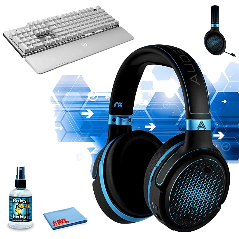 Audeze?Mobius Planar Magnetic Gaming Headset (Blue) GameSir GK300 Wireless Mechanical Gaming Keyboard (White) Headphone Cleaning Kit