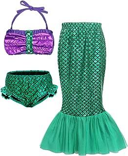 Little Mermaid Costume Outfit Dress Girls Princess Ariel Swimsuit