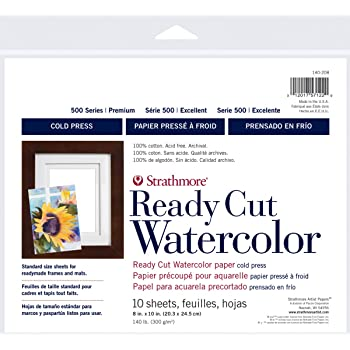 Cold Press 10 Sheets Strathmore 400 Series Watercolor Artist Tiles 6x6
