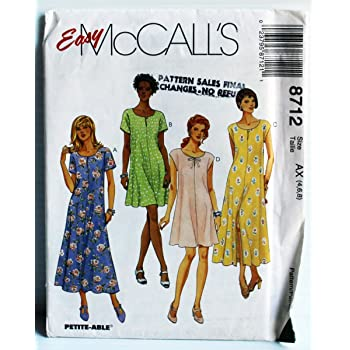McCall/'s 8190  Misses/' Lined Dresses  Sewing Pattern