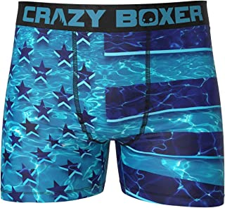 American Flag Under Water Boxer Briefs (X-Large, Blue)