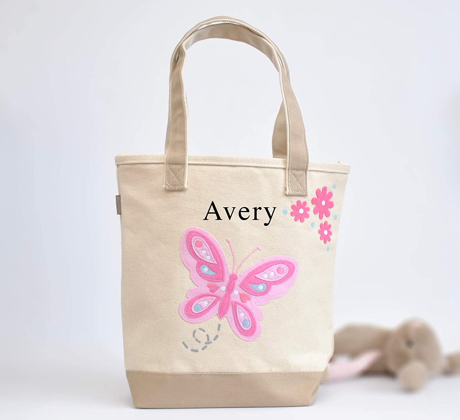 Butterfly Tote Personalized Library teacher tote Max 62% OFF bag Rare toddler