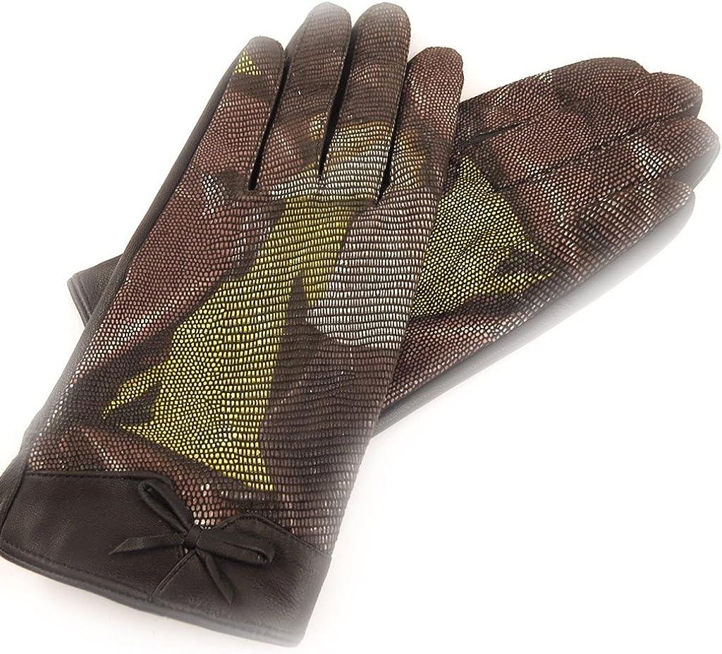 Leather gloves for women 'Scarlett'baroque brown.