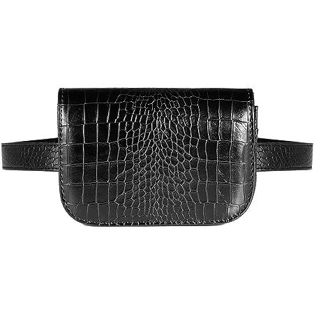 Vbiger Bolso Riñoneras Mujer Moda Bolso Cintura Mujer Mini Color Negro