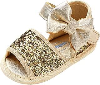Infant Baby Girl Non-Slip Sandals Soft Sole Crib Shoes Toddler Summer Bowknots Princess Dress Flats