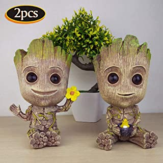 Groot Planter Pot,Baby Groot Flowerpot, Garden Pots Guardians of The Galaxy Groot Tree Man Flower Pot or Pens Holder for a Tiny Succulents Plants and Best Christmas Gift for Kids