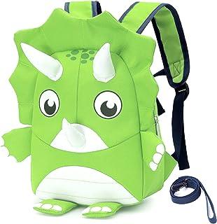 Lekesky Toddler Backpack with Leash for Kids Boys and Girls, Preschool Kids Backpack Cute 3D Dinosaur Backpack