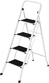 Best Choice Products Portable Folding Steel 4-Step Stool Ladder w/Hand Rail, Wide Platform Steps, 300lbs Capacity