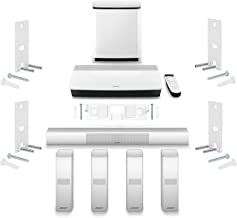 Bose Lifestyle 650 Home Entertainment System with Wall Brackets (1 OmniJewel Center Channel Bracket & 4 OmniJewel Wall Brackets) - White