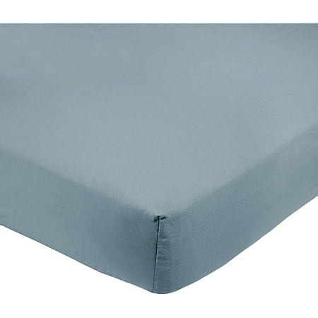 Amazon Basics Drap-housse en microfibre Bleu spa 160x200x30cm