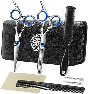 Professional Hair Cutting Scissors Set Hairdressing Scissors Kit, Hair Cutting Scissors, Thinning Shears, Hair Razor Comb,...