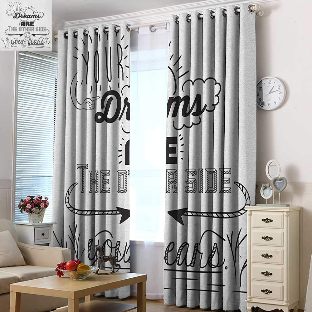Cortinas de Puerta corredera con Cita en inglés «This Rain of Happiness Romantic Brush Art Wish»: Amazon.es: Hogar