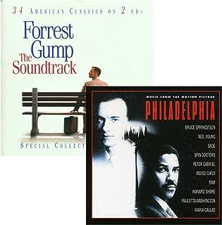 Forrest Gump - Philadelphia - Tom Hanks - 2 CD Movie Soundtrack Bundling