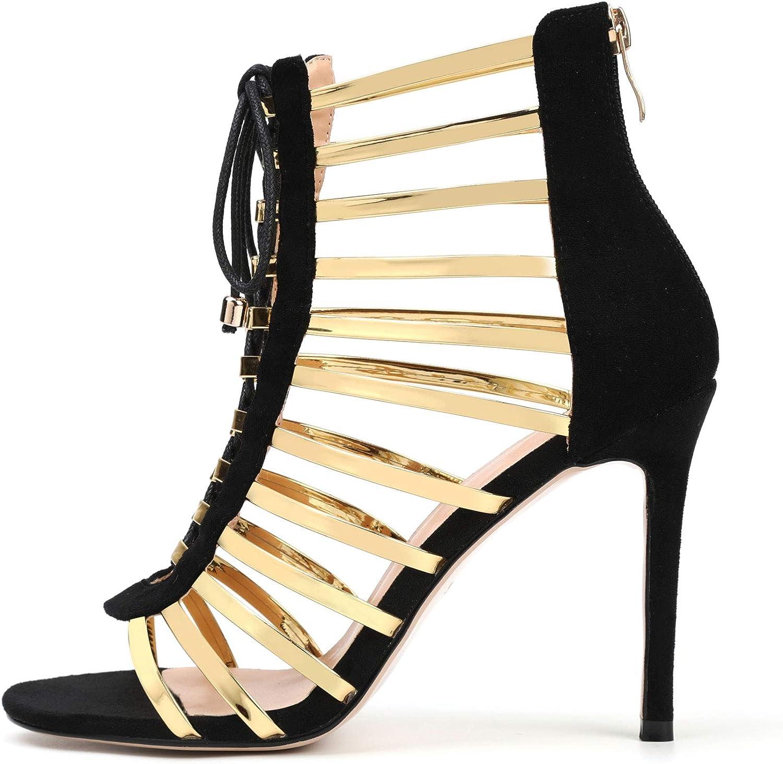Women's Dress Sandals Fashion High Lace-up Fringed Fort Worth Mall New life Heels Sanda