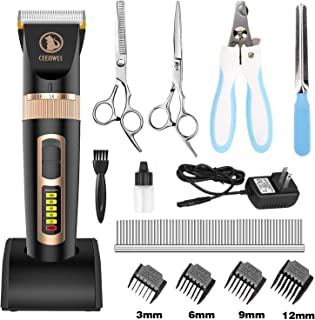 Ceenwes Dog Clippers Heavy Duty Low Noise Rechargeable...