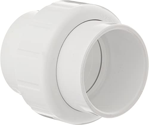 """Spears 497 Series PVC Pipe Fitting, Union with EPDM O-Ring, Schedule 40, 1"""" Socket"""