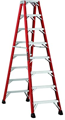 Louisville Ladder L-3431-08MR 8-Feet Twin Front Fiberglass Ladder