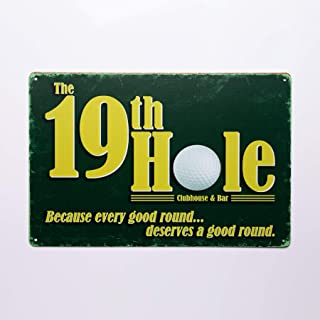 19th hole golf signs