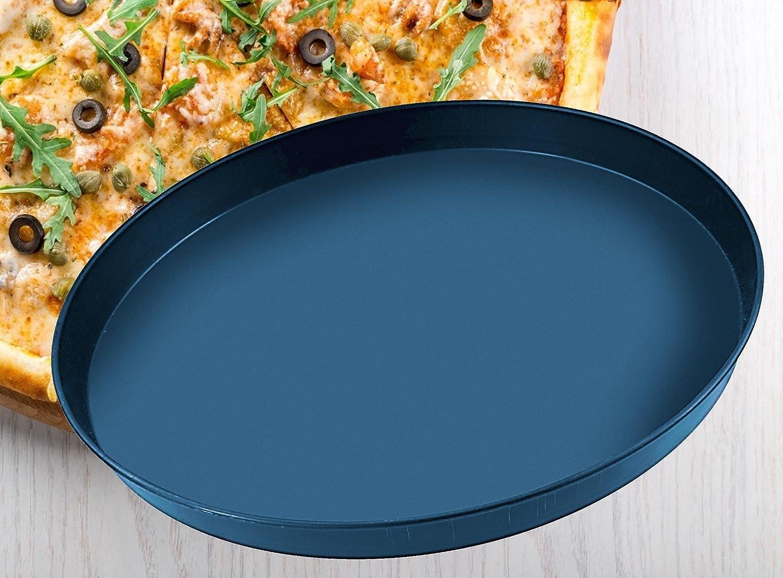 rundes Backblech aus Blaublech Blech f/ür tiefgek/ühlte und selbstgemachte Pizza FMprofessional Pizzablech /Ø 18 cm hochwertiges Pizzabackblech qualitative Pizzaform Menge: 1 St/ück